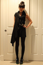 Marni shoes - black Pleasure Principle dress - vintage belt