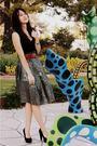 skirt - belt - calvin klein shoes - American Apparel shirt