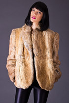 Vintage Rabbit Fur Jacket in Caramel