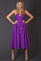 Vintage Sweetheart Sundress in Purple