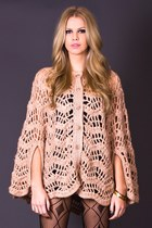Vintage Crocheted Cape in Nude