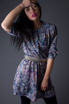 SALE 40% OFF! Vintage Floral Print Mini Dress