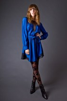 Blue Silk Blue Funktional Dresses