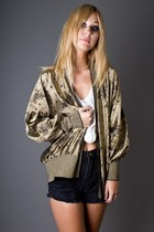 Gold-metallic-gold-telltale-hearts-vintage-cardigan