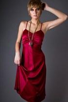Maroon-burgandy-disco-telltale-hearts-vintage-dress