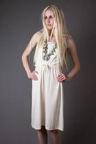 Ivory Ivory Tie Strap Telltale Hearts Vintage Dresses