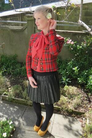 vintage jacket - vintage blouse - Ebay skirt - Wildpair wedges