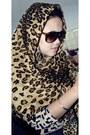 Leopard-print-scarf
