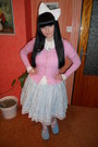 Bubble-gum-bodyline-socks-sky-blue-dear-celine-skirt