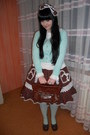 Dark-brown-bodyline-shoes-aquamarine-h-m-tights-aquamarine-gate-cardigan