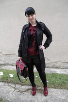 brick red New Yorker bag - black Orsay coat - black Gate tights