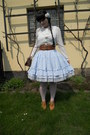 Sky-blue-dear-celine-skirt-white-new-yorker-shirt