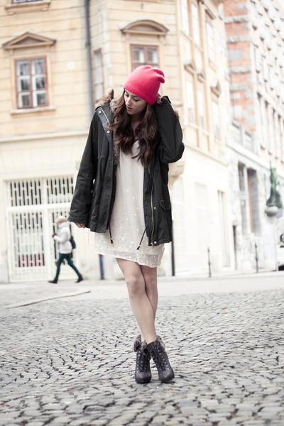 H&M hat - H&M dress - Bershka jacket