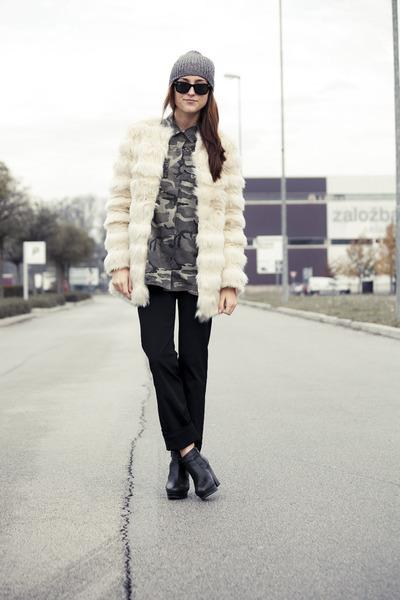 asos coat - Zara shirt