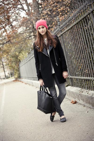 H&M hat - Zara coat