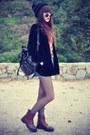 Velvet-blazer-theeditorsmarket-bag-denim-shorts-round-sunglasses