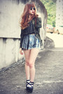 Sheinsidecom-shirt-choies-shorts-round-sunglasses-younghungryfree-wedges
