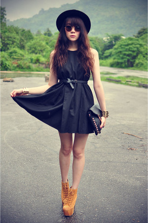 dress - Forever 21 hat - Jeffrey Campbell heels