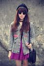 Forever-21-hat-denim-jacket-skirt