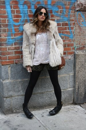 vintage jacket - Target tights - Alexander Wang bag
