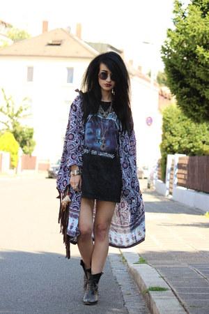 spiked cowboy Zara boots - kimono boho Arnhem jacket