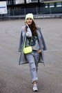 Sandro-coat-blue-ridge-jeans-grey-printed-the-kooples-sweater-zara-bag
