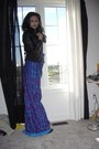 Charcoal-gray-steve-madden-boots-purple-maxi-dress-thrifted-vintage-dress-bl