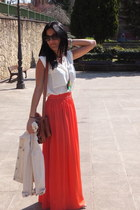 Mango skirt - Bimba & Lola bag - Mango top
