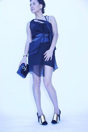 black Mark Fast dress - black Givenchy bag - black YSL heels