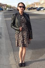Light-brown-target-dress-black-jcp-jacket
