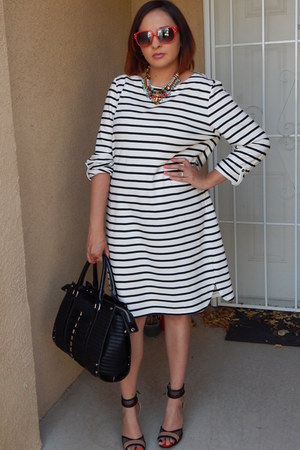 white Target dress - nude Shoedazzle heels