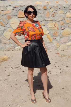 black Target skirt - carrot orange Tucker for Target dress