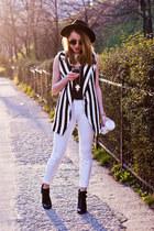 H&M hat - Sheinsidecom vest - Zara pants - H&M top