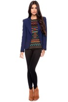 wedges Forever 21 boots - aztec Forever 21 sweater