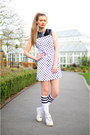 white The Left bank by Hardy Punglia dress - white American Apparel socks