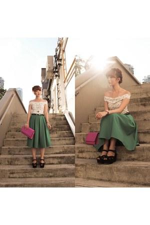 hot pink clutch H&M bag