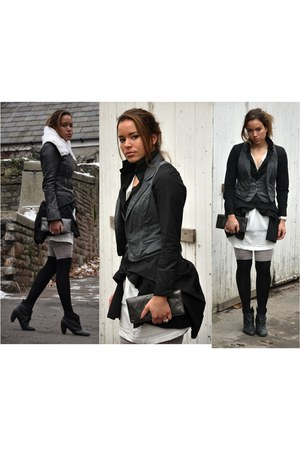 allsaints shoes - balenciaga jacket - Michael Kors bag - Instant Vintage top