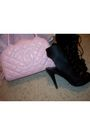 Black-jacket-pink-juicy-couture-dress-black-shoes-pink-chanel-accessories