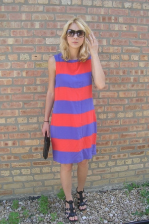Retro Stripped Shift Dress