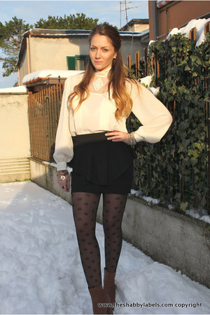 vintage shirt - Dorothy Perkins tights - H&M skirt