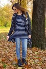 Navy-h-m-sweater-black-lita-jeffrey-campbell-boots-light-blue-zara-jeans