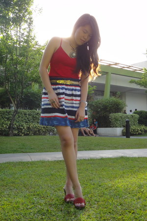 printed stripes Plains and Prints skirt