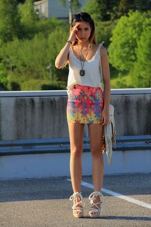 spell bag - Nasty Gal skirt - dior heels