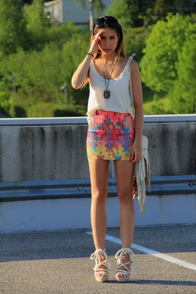 spell bag - Nasty Gal skirt - dior heels