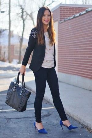 blue Zara heels