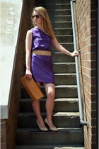 nude Nine West heels - purple The Style Shift dress