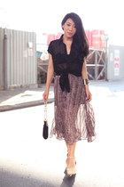 amethyst Topshop skirt