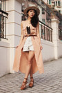 Peach-monki-dress-beige-topshop-hat-off-white-american-apparel-shorts-army