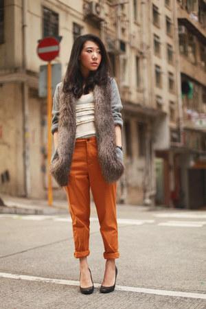 mustard Zara pants
