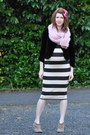 Sam-edelman-shoes-asos-maternity-dress-thrifted-vintage-blazer